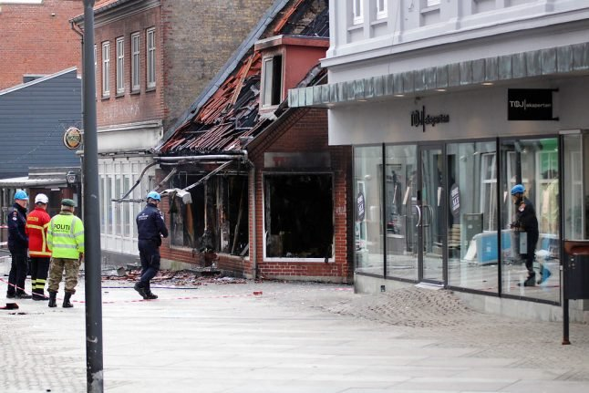 No sugar high in Danish town as candy store destroyed by explosion