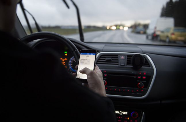 Denmark just got tougher on drivers who use their phone behind the wheel