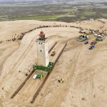 In pictures: Denmark moves sandswept lighthouse 80 metres on wheels