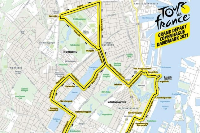 Here are the routes for the Danish stages of the 2021 Tour de France