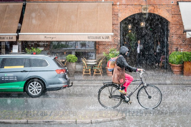 Denmark sees two weeks' rain in two days…and there's more to come