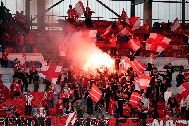 Danish cup final stopped after fans break virus rules