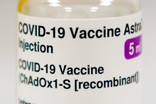 Denmark to recommend AstraZeneca vaccine for under-65s only