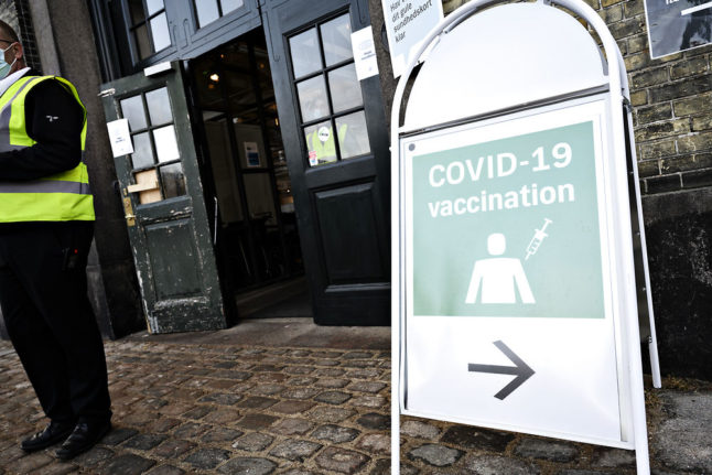 What is Denmark's current schedule for Covid-19 vaccination?