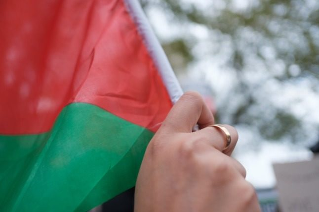 Police arrest three at pro-Palestinian protest in Denmark