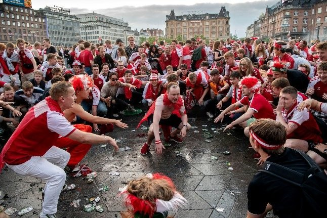IN PICS: How Danes celebrated reaching the Euro2020 quarter finals