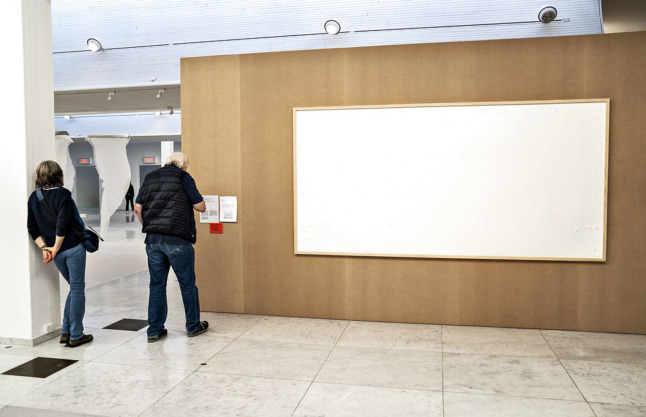 An empty frame: not what Aalborg's Kunsten museum expected when it loaned thousands of banknotes to an artist as part of a commission.