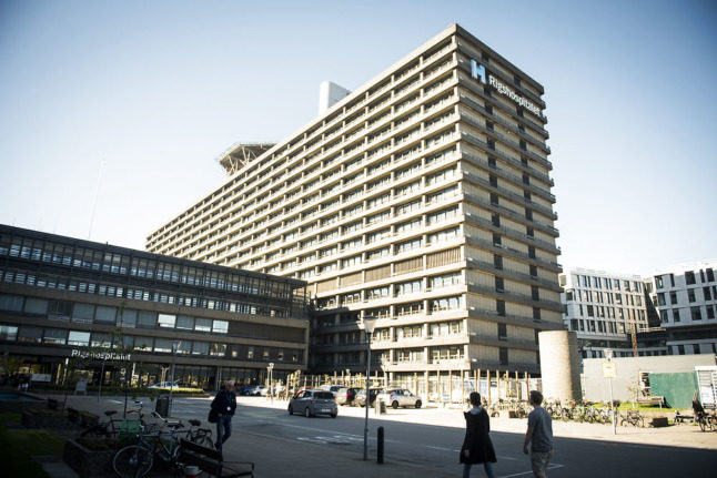 Rigshospitalet in Copenhagen, which announced trials of a new therapeutic treatment against Covid-19 on October 11th.