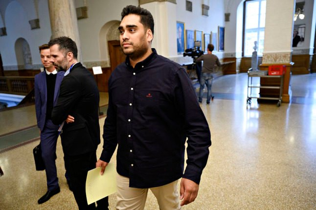 Danish MP Sikandar Siddique in parliament earlier this year. Siddique and his parents endured a racist verbal attack near Christiansborg on October 5th.